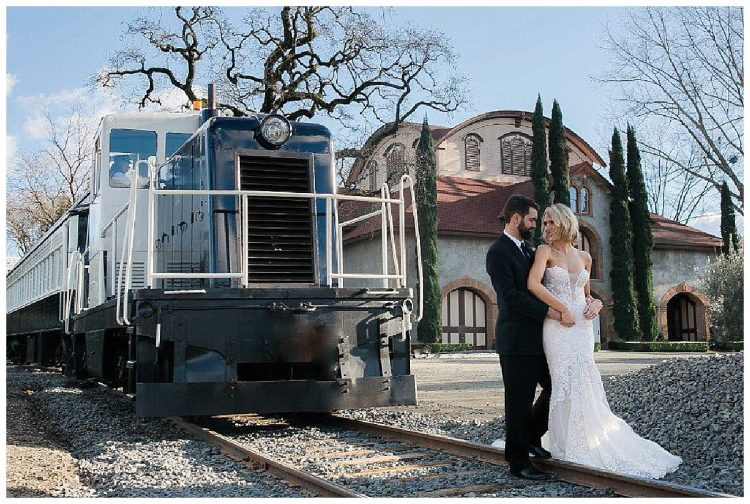 Charles Krug Winery Wedding with Napa Valley wine train
